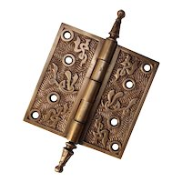 "Antique Cast Bronze Single Hinge, ""Arabic"" by Mallory, Wheeler, & Co."