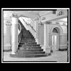 Reclaimed Set of Bronze and Onyx Stair Parts, Divine Lorraine Hotel