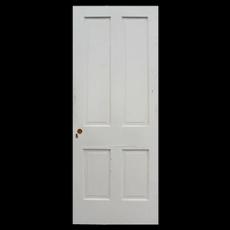 """Antique 32"""" Four-Panel Solid Wood Door"""
