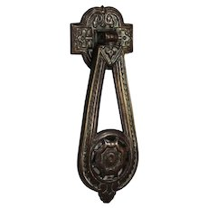 Antique Bronze Eastlake Door Knocker, C. 19th Century