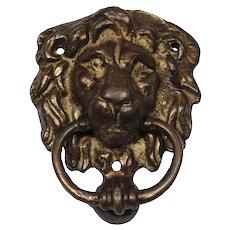 Vintage Brass Lion Door Knocker