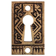 Charming Antique Eastlake Keyhole Escutcheons, c. 1880's