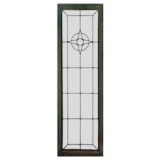 Antique American Glass Window, Early 1900s