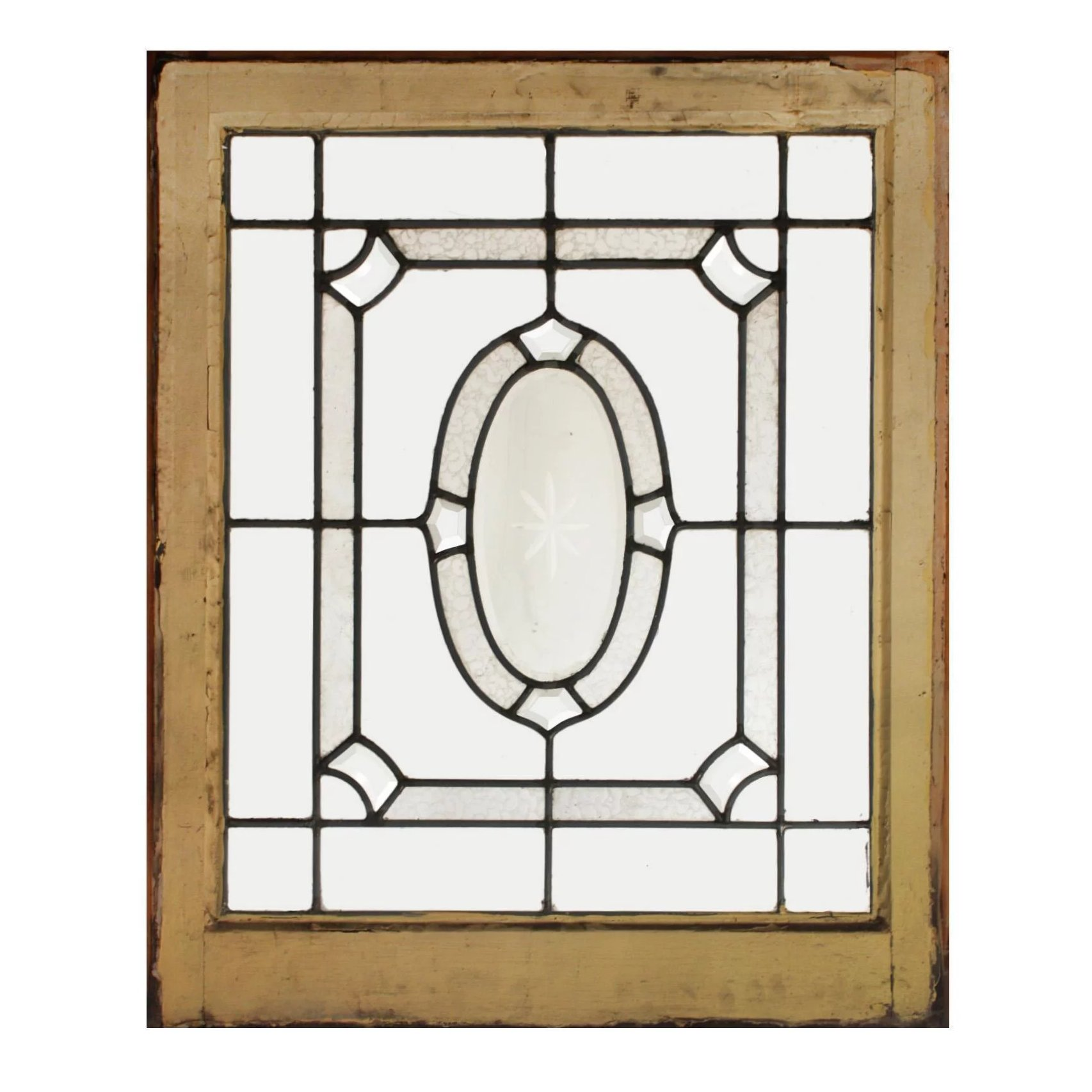 Antique Leaded And Beveled Glass Window Hand Cut Star Preservation Station Ruby Lane
