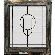 Antique Arts & Crafts American Leaded Glass Window