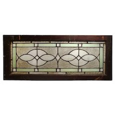 Antique American Leaded Glass Window with Jewels
