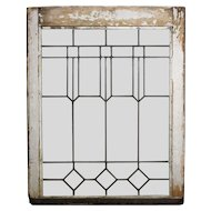 Handsome Antique Arts & Crafts American Leaded Glass Window