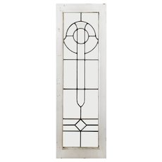 Antique Arts & Crafts American Beveled and Leaded Glass Windows