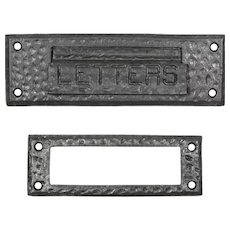 Hammered Letter Slot with Matching Interior Trim Piece