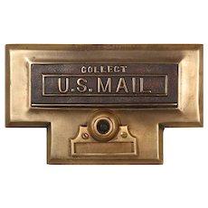 Antique U.S. Mail Letter Slot, Cast Bronze