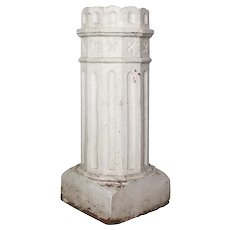 Reclaimed Antique Terra Cotta Chimney Pot, Late 19th Century