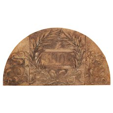 Salvaged Arched Terra-Cotta Façade Ornament