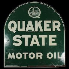 Quaker State Motor Oil Sign, Vintage Signs