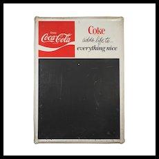 Coca-Cola Chalkboard Sign, Vintage Signs