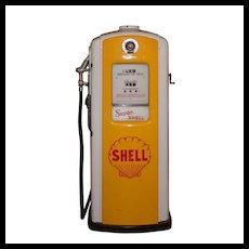 "Vintage ""Super Shell"" Gas Station Pump"