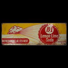 """Vintage """"B-1 Lemon Lime Soda"""" Sign, c. 1943"""