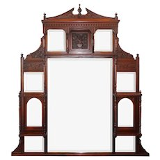 Antique Decorative Mirror, Mahogany
