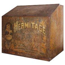 "Antique Metal ""Hermitage Coffee"" Bin, c. 1920"