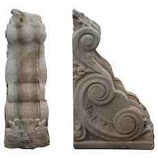 Substantial Pair of Antique Sandstone Corbels, Early 1900s
