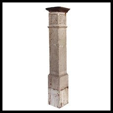 Reclaimed Antique Boxed Newel Post, Early 1900's