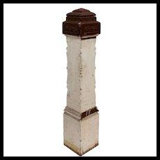 Reclaimed Antique Eastlake Boxed Newel Post, Walnut