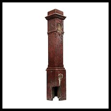 Salvaged Antique Boxed Newel Post, Early 1900s