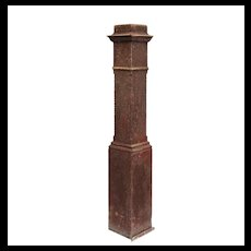 Reclaimed Antique Boxed Newel Post, Early 1900s