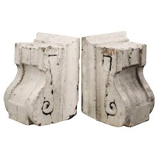 Reclaimed Petite Antique Corbel Pairs, Chippy Paint