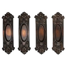 "Reclaimed ""Elba"" Pocket Door Plates by Reading Hardware"