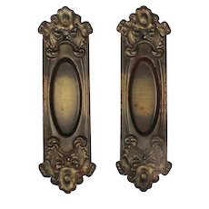 "Antique ""Elba"" Pocket Door Plates by Reading Hardware"