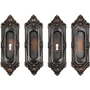 "Antique ""St. Julien"" Pocket Door Plate Pairs by Russell & Erwin, c. 1909"