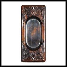 "Antique ""Vinca"" Pocket Door Plates by Reading Hardware, c. 1900"