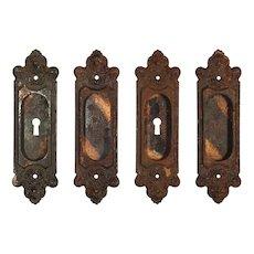 """Antique """"Truro"""" Pocket Door Plates by Sargent, c. 1905"""