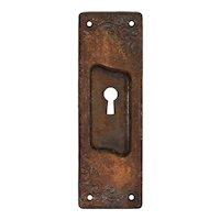 "Antique ""Lyons"" Pocket Door Plates by US Steel Lock Company"