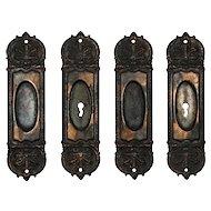 """Antique """"De Bercy"""" Pocket Door Plate Pairs by Russell & Erwin, c. 1890"""