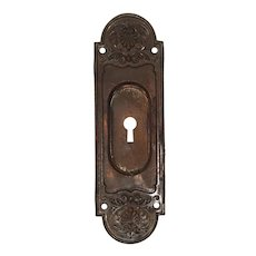Antique Pocket Door Plates, c. 1910's