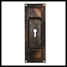 Antique Egg & Dart Pocket Door Plates