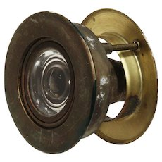 Very Unusual Vintage Tilting Peephole for Door, 1947 Patent Date