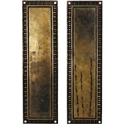 Antique Brass Push Plate with Egg-and-Dart