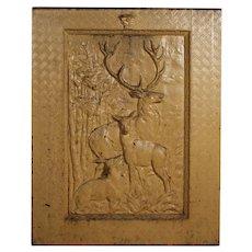 Antique Cast Iron Figural Summer Cover, Nature Scene
