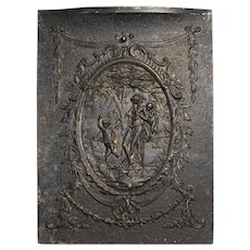 Antique Figural Cast Iron Summer Cover, 19th Century