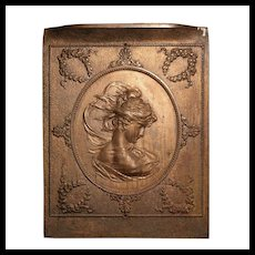 Antique Figural Summer Cover, Woman's Silhouette