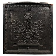 Antique Cast Iron Figural Summer Cover with Heraldic Dolphins