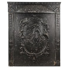 iron fireplace cover. Antique Cast Iron Figural Fireplace Cover and Surround  C 1900s Summer Insert With Deer SOLD Ruby Lane