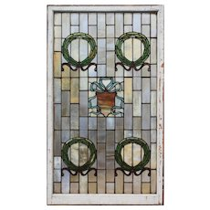 Substantial Antique American Stained Glass Windows