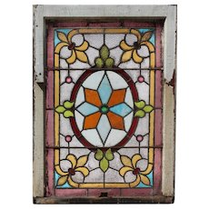 Rare Antique American Stained Glass Windows, Early 1900s