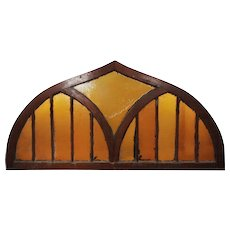 Antique Ogee Arch Stained Glass Window