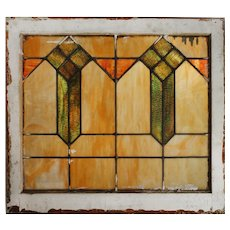 Antique Arts and Crafts American Stained Glass Window