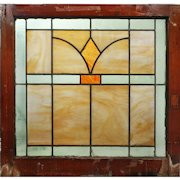 Antique Arts & Crafts American Stained Glass Windows
