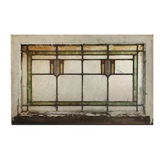 Antique American Stained Glass Window, c.1910